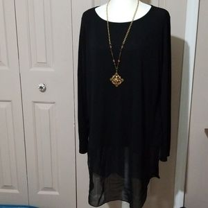 Eileen Fisher black silk blouse